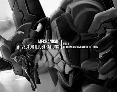 Mechanical Vector Illustration I RetroMia