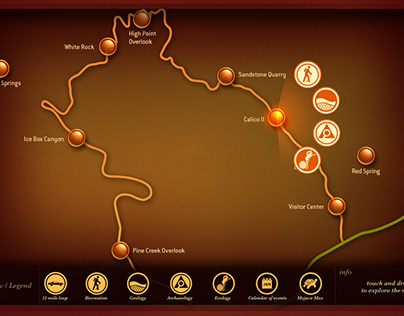 Red Rock Canyon interactive kiosk