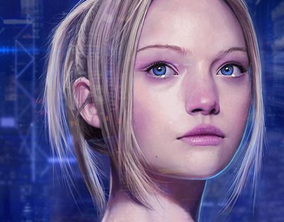 Sci-fi Girl Portrait (with video process)