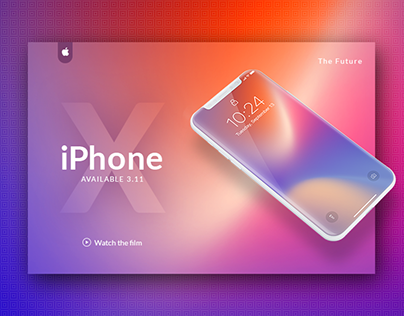 iPhoneX Launch page | Free Mockup PSD