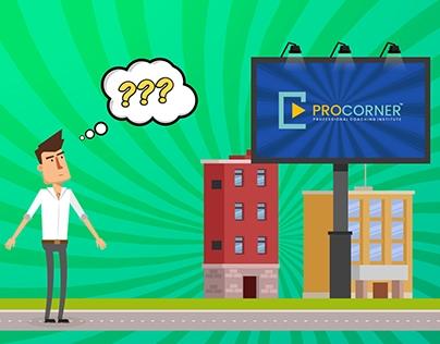 Procorner - Animation video - UI | UX Branding