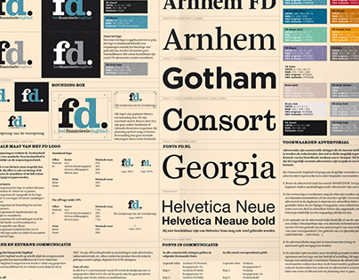FD | Financieel Dagblad | Brand guide poster