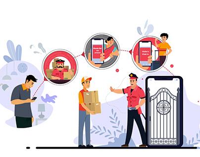 Web illustrations-Society Now