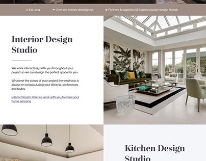 A redesigned website for an interior design studio