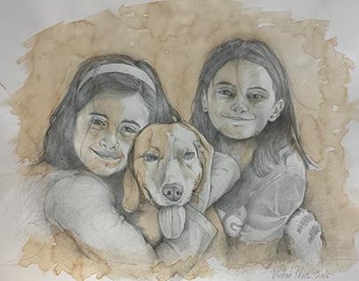Ilustración. Laura, Celia & Luna