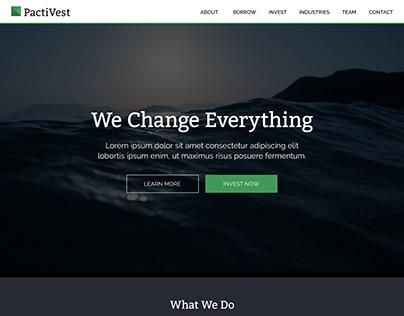 PactiVest Web Design