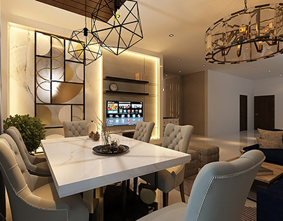 Casual Lounge seating and Dining Visualization