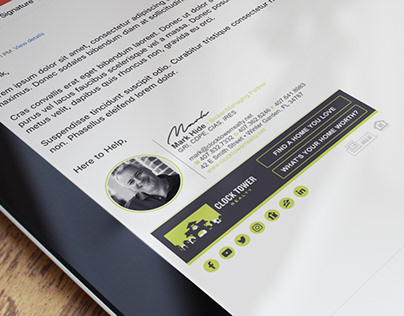 Custom HTML Email Signature for a Real Estate Agent