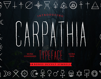 Carpathia Typeface
