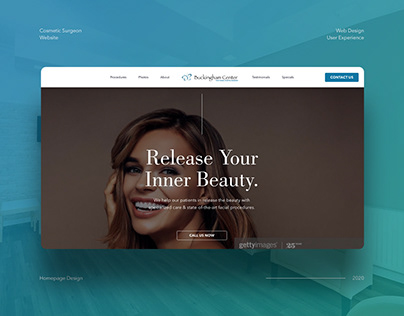 Cosmetic Surgery Homepage Concept