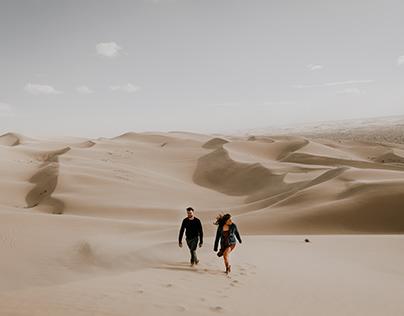 Desert engagement photos // Glamis, CA
