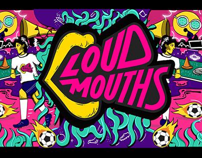 Social Media Illustrations for Loud Mouth Instagram