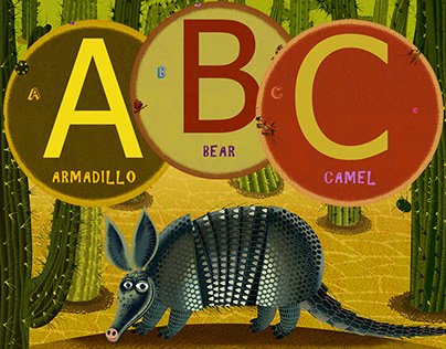 The picture book, alphabet with animals. Part 1.