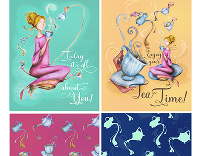 Art Licensing collection 4 Tea Time!