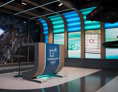 Set design for Dutch Broadcast Foundation NOS SPORT
