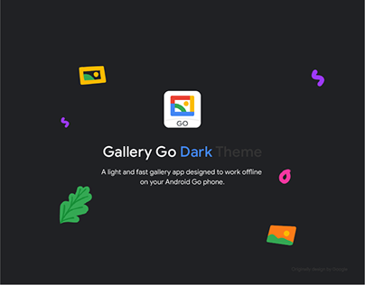 Gallery Go Dark Theme UI for Android