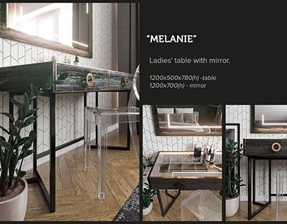 MELANIE. Ladies' table with mirror.