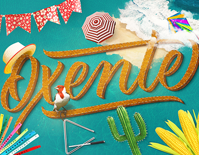 Oxente Lettering and Poster