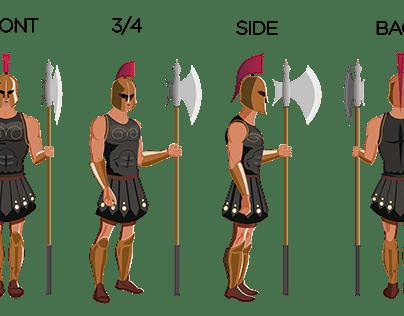 Character Design (Gladiator)