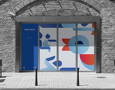 SWIMMAX - illustrative brand identity