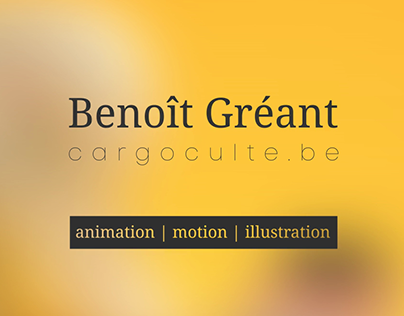 Benoît Gréant - showreel 2017