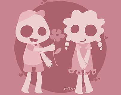 Silhouette kids