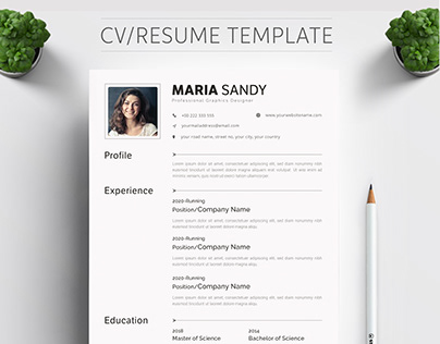 CV & Resume Template, Professional CV/Resume