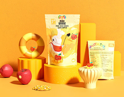 Packaging Design of Snacks \ Max Whale IP形象 & 包装设计