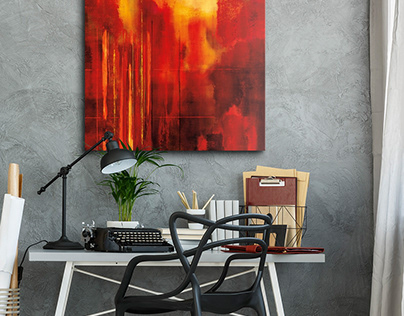 Room Ideas with Abstract Art from Great BIG Canvas