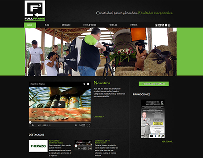Fullframe.tv - Web Design -