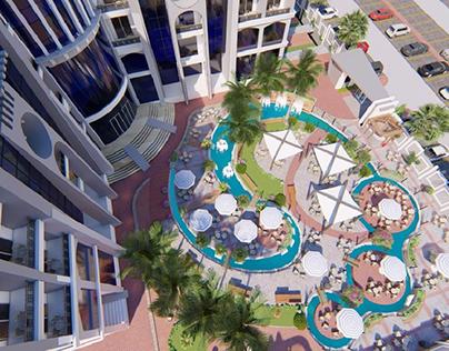 Lamar hotel landscape design