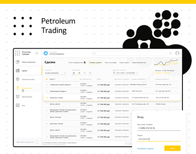 Petroleum Trading - Dashboard for Customers