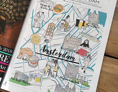 Metropolitan Magazine Amsterdam Travel Map