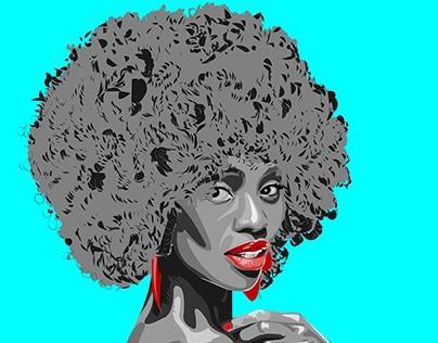 Kenyan female artist vector