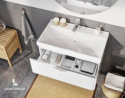 CGI - Bathroom furniture close-ups by LIGHT ORIGIN