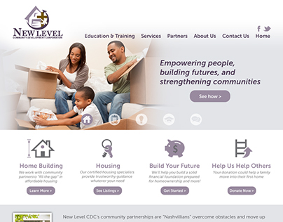 New Level CDC Home Page Layout