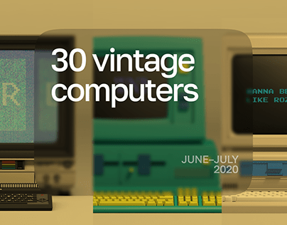 30 vintage laptops