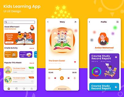 Kids E-Learning App   UI UX Design