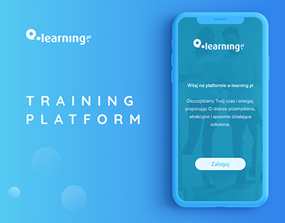 E-learning. Training platform.