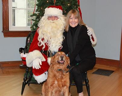 Santa, Bailey, & Marilyn Gardner, Milton Massachusetts