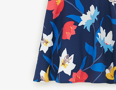 Graphic floral for Zara Kids Cono Sur