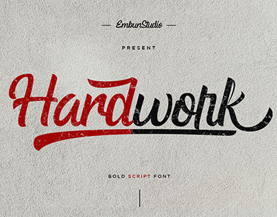 Free Hardwork Bold Script Font