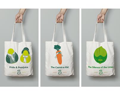 innocent 'fruit classics' tote bags