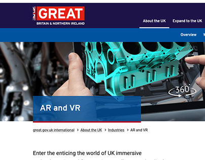 AR and VR | GREAT.GOV.UK | 2021