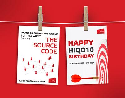 HiQo Birthday & Programmer's Day Cards