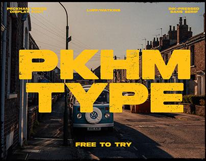 Peckham Press - Handprinted Font