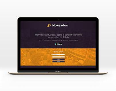 Blokeados - Web design