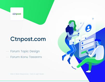 Ctnpost Topic Design