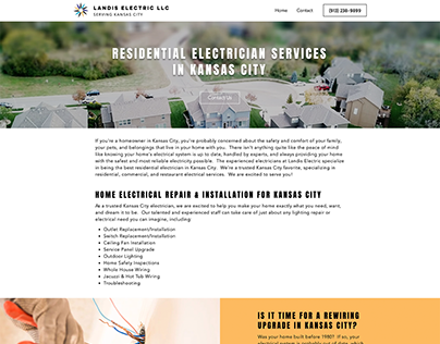 Landis Electric KC | Website Design - Residential Page