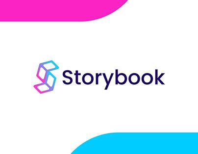 Storybook logo design for branding-S letter modern logo